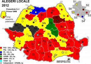 Romania 2012 local election results (Infopolitic.ro)